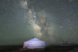 The Milky Way Rises over a Mongolian Ger in South Gobi Desert  Mongolia