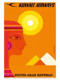 United Arab Republic - Kuwait Airways - Ancient Egyptian Pyramids