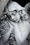 Close Up of a Garden Statue of an Angel