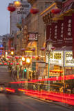 Car Streaks in Chinatown at Night