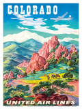 Colorado - United Air Lines - Garden of the Gods  Colorado Springs