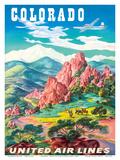 Colorado - United Air Lines - Garden of the Gods  Colorado Springs