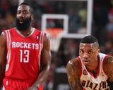 2014 NBA Playoffs Game 6: May 2  Houston Rockets vs Portland Trail Blazers - Damian Lillard