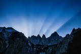 The Sun Sets Behind Mount Whitney