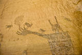Barrier Canyon Style Pictographs from a Panel known as 'Harvest Scene' in Horseshoe