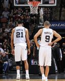 2014 NBA Playoffs Game 2: Apr 23  Dallas Mavericks vs San Antonio Spurs - Tim Duncan  Tony Parker