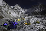 Everest's Base Camp and the Khumbu Glacier at Night