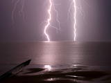 Lightning Strikes the Sea