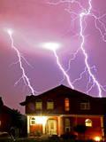 A Thunder Storm and Lightning Passes over the Village of Bardovci Near Skopje