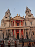Two Chinook Helicopters Fly over St Paul's Cathedral in London  Britain