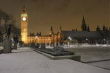 The Houses of Parliament and Parliament Square are Seen Covered in a Layer of Snow in London