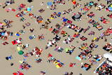 Aerial View of Holiday Makers on a Beach