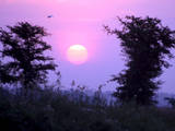 The Sun Sets in Wau City  Southern Sudan
