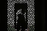 A Couple Stands Inside the Humayun's Tomb  Nizamuddin East  India