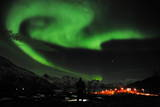 Aurora Borealis Near the City of Tromsoe in Northern Norway