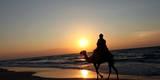 Sunset in Gaza Strip