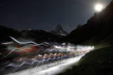 Hiker-Skiers Trek Out as Part of the Glacier Patrol  Patrouille Des Glaciers Race