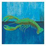 Blue Lobster Reproduction d'art par Elizabeth Jordan