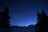 Stars are Seen on a Clear Sky in Arosa