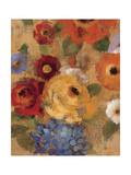 Jacquard Floral I Crop