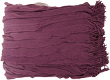Toya Color Block Ombre Throw - Eggplant*