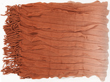 Toya Color Block Ombre Throw - Orange Spice