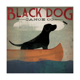 Black Dog Canoe Reproduction d'art par Ryan Fowler