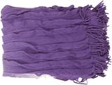 Toya Color Block Ombre Throw - Purple