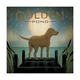 Moonrise Yellow Dog Reproduction d'art par Ryan Fowler