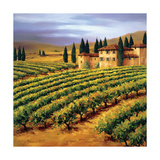 Villa in the Vinyards of Tuscany Giclée par Tim Howe