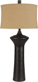 Richmond Textured Bronze Geometric Table Lamp*