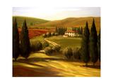 Through the Hills of Tuscany Giclée par Tim Howe
