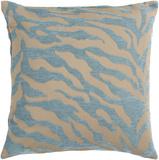 Velvet Zebra Pillow Poly Fill - Ice Blue
