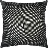 Midnight Metallic Circles Pillow - Black*