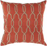 Gates Trellis Down Fill Pillow - Poppy