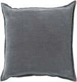 Cotton Velvet Poly Fill Pillow - Smoke