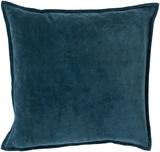 Cotton Velvet Poly Fill Pillow - Teal