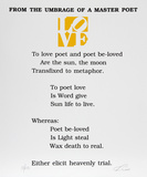 The Book of Love Poem - From the Umbrage of a Master Poet