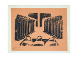 The Tribunal  from '13 Woodcuts by Siqueiros'  Published 1931