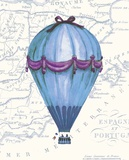 Vintage Blue Air Balloon