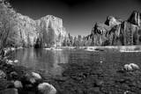 USA  California Yosemite Valley view from the bank of Merced river