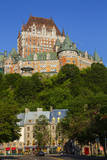 Lower old town with Chateau Frontenac  Quebec City  Quebec  Canada