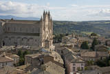 Italy  Umbria  Orvieto Overview of the town and Cathedral of Orvieto