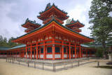 Shinto shrine on the grounds of the Heian Jingu Shrine  Kyoto  Japan