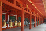 Japan  Nara Hanging lanterns at Kasuga Taisha Shrine built in 768 AD