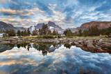 USA  California  Inyo NF Mt Ritter and Banner Peak above Garnet Lake