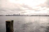 Seattle skyline from Alki  Seattle  Washington State  USA