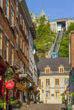 Funicular to Old Upper Town  Quebec City  Quebec  Canada