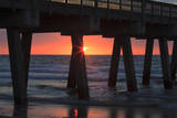 USA  Georgia  Tybee Island  Tybee Pier at sunrise