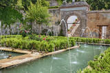 The Generalife gardens  Alhambra grounds  Granada  Spain